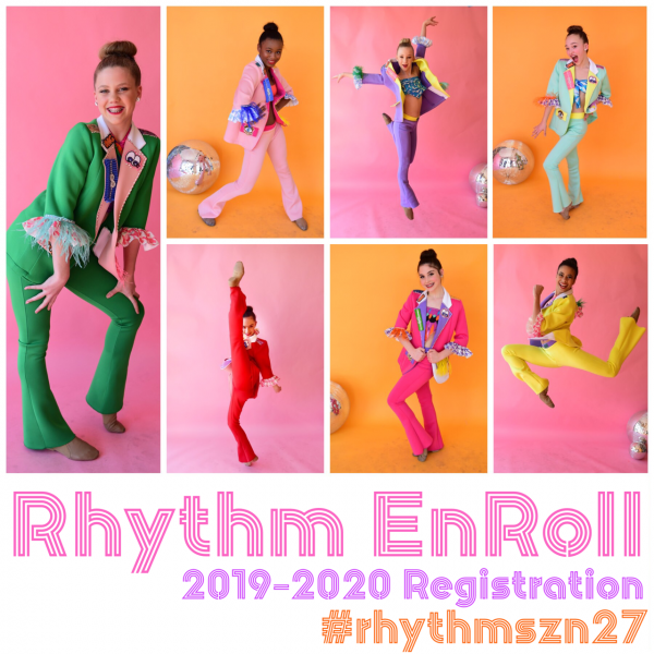 Registration for our 2019-2020 season is NOW OPEN!! Take advantage of our Rhythm EnRoll and save!